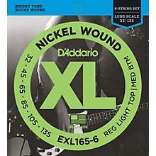 D'Addario EXL165-6 XL 6-String Bass Soft/Regular String Set