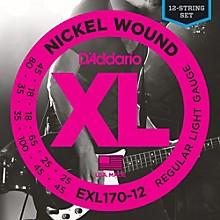 D'Addario EXL170-12 XL Light Long Scale 12-String Nickel Electric Bass Strings