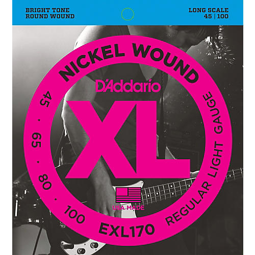 D'Addario EXL170 Nickel Wound Bright Round Wound Electric Bass Strings thumbnail