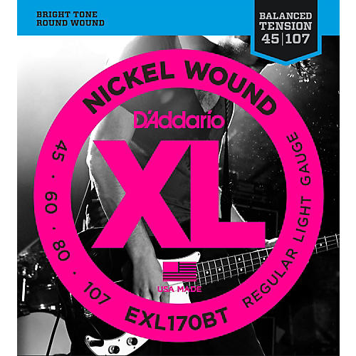 D'Addario EXL170BT Balanced Tension 45-107 Long Scale Electric Bass String Set thumbnail