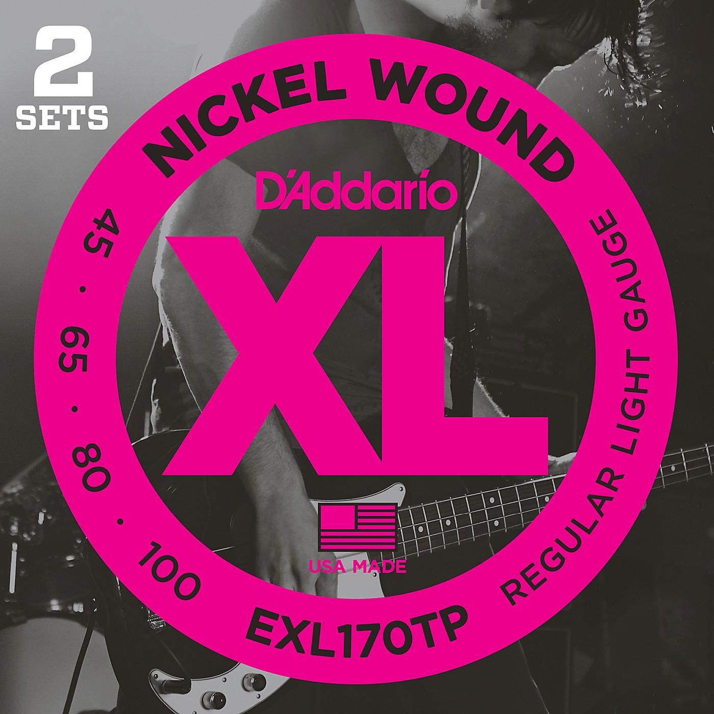 D'Addario EXL170TP Round Wound Bass Guitar Strings 2-Pack thumbnail