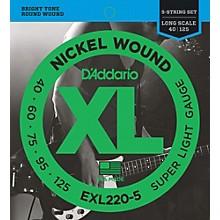 D'Addario EXL220-5 XL 5-String Bass Super Soft/Long String Set