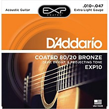 D'Addario EXP10 Coated 80/20 Bronze Extra Light Acoustic Guitar Strings