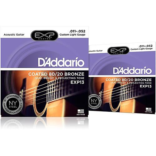 D'Addario EXP13 Coated Electric Super Light Guitar Strings 2-Pack-thumbnail