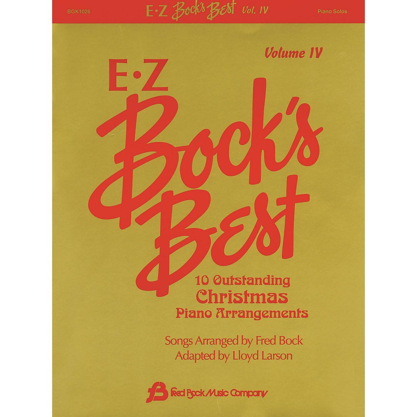 Fred Bock Music EZ Bock's Best - Volume 4 (10 Outstanding Christmas Piano Arrangements) Fred Bock Publications Series thumbnail