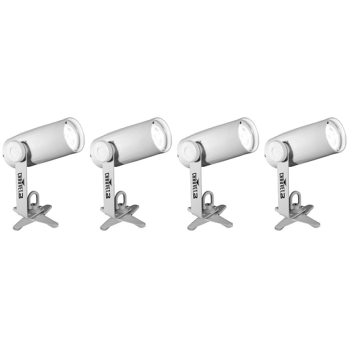 CHAUVET DJ EZpin Pack 4 Battery-Powered LED Spot Light Set thumbnail