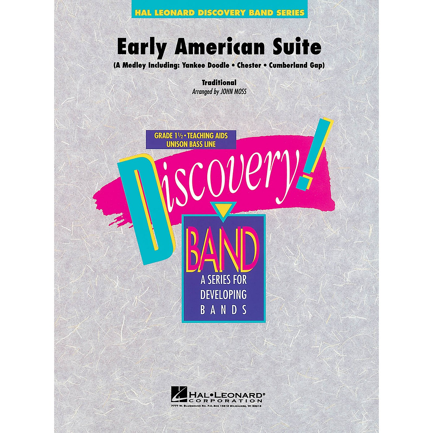Hal Leonard Early American Suite Concert Band Level 1.5 Arranged by John Moss thumbnail
