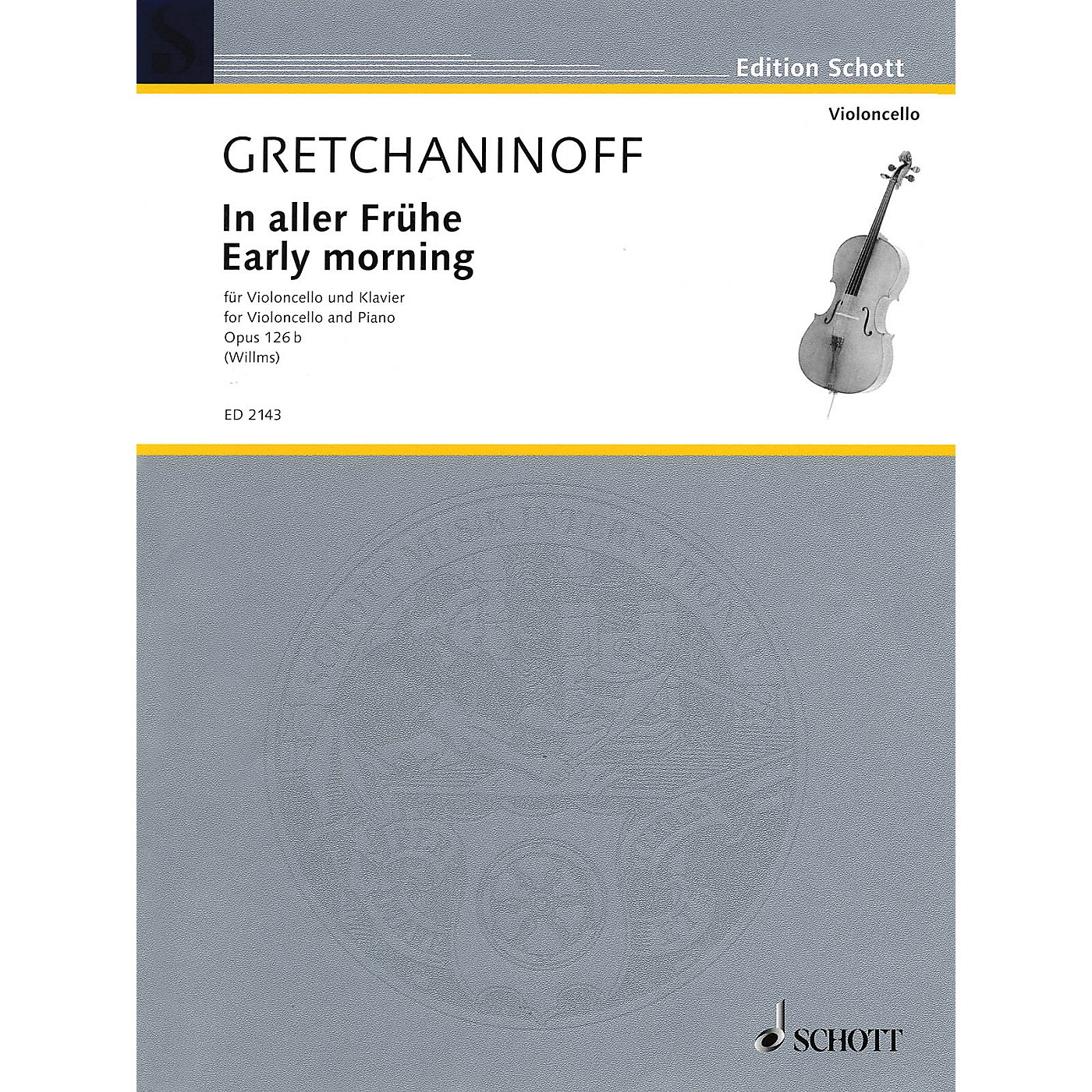 Schott Early Morning (Cello and Piano) Schott Series thumbnail