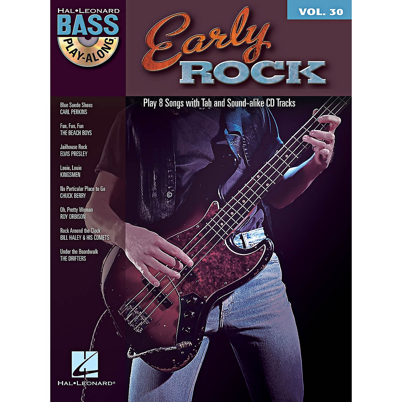 Hal Leonard Early Rock - Bass Play-Along Series Volume 30 Book/CD thumbnail