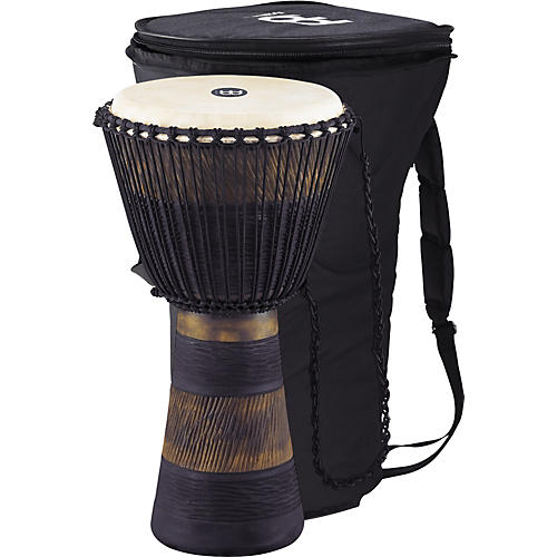 Meinl Earth Rhythm Series Original African-Style Rope-Tuned Wood Djembe with Bag thumbnail