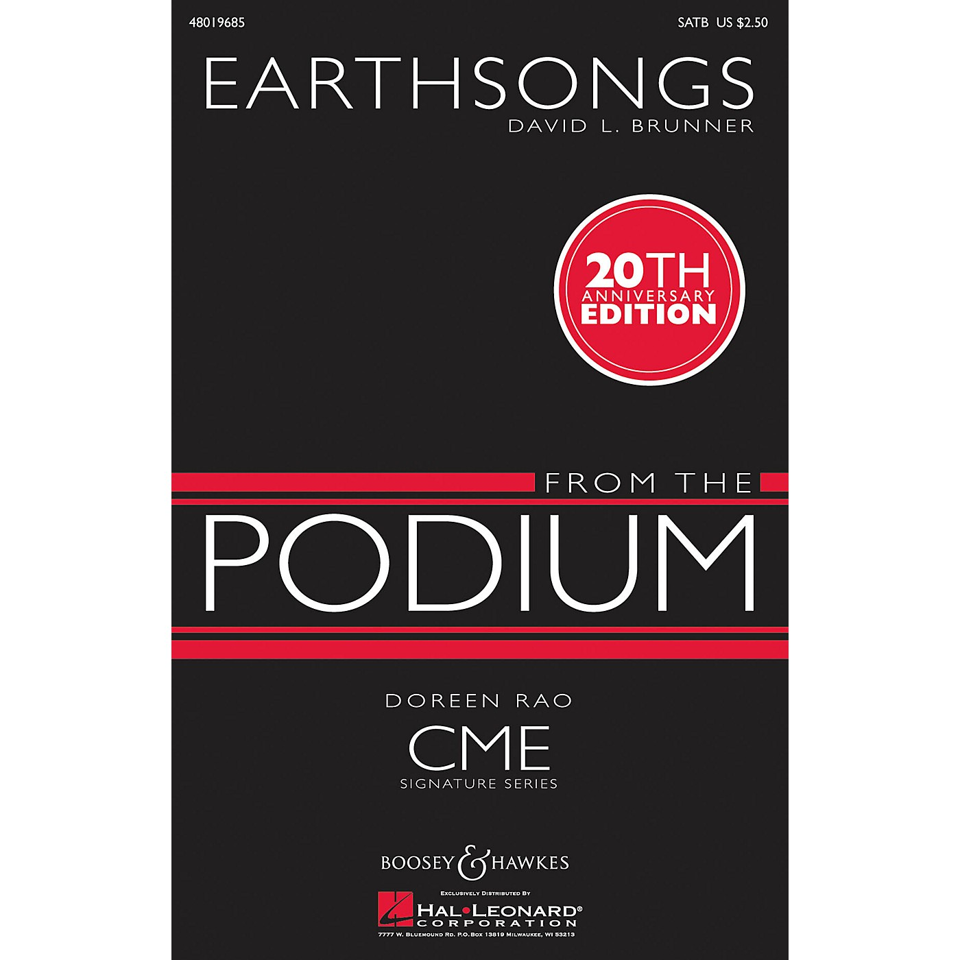 Boosey and Hawkes Earthsongs (CME From the Podium) SATB composed by David Brunner thumbnail