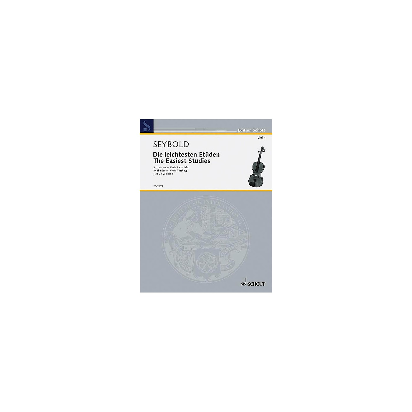Schott Easiest Violin Etudes Vol. 2 Schott Series thumbnail
