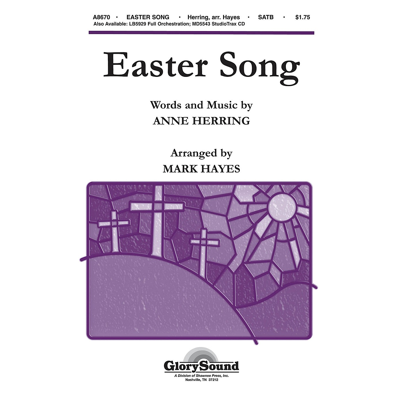 Shawnee Press Easter Song SATB arranged by Mark Hayes thumbnail