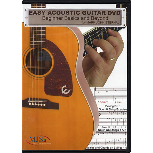 MJS Music Publications Easy Acoustic Guitar DVD: Beginner Basics and Beyond-thumbnail
