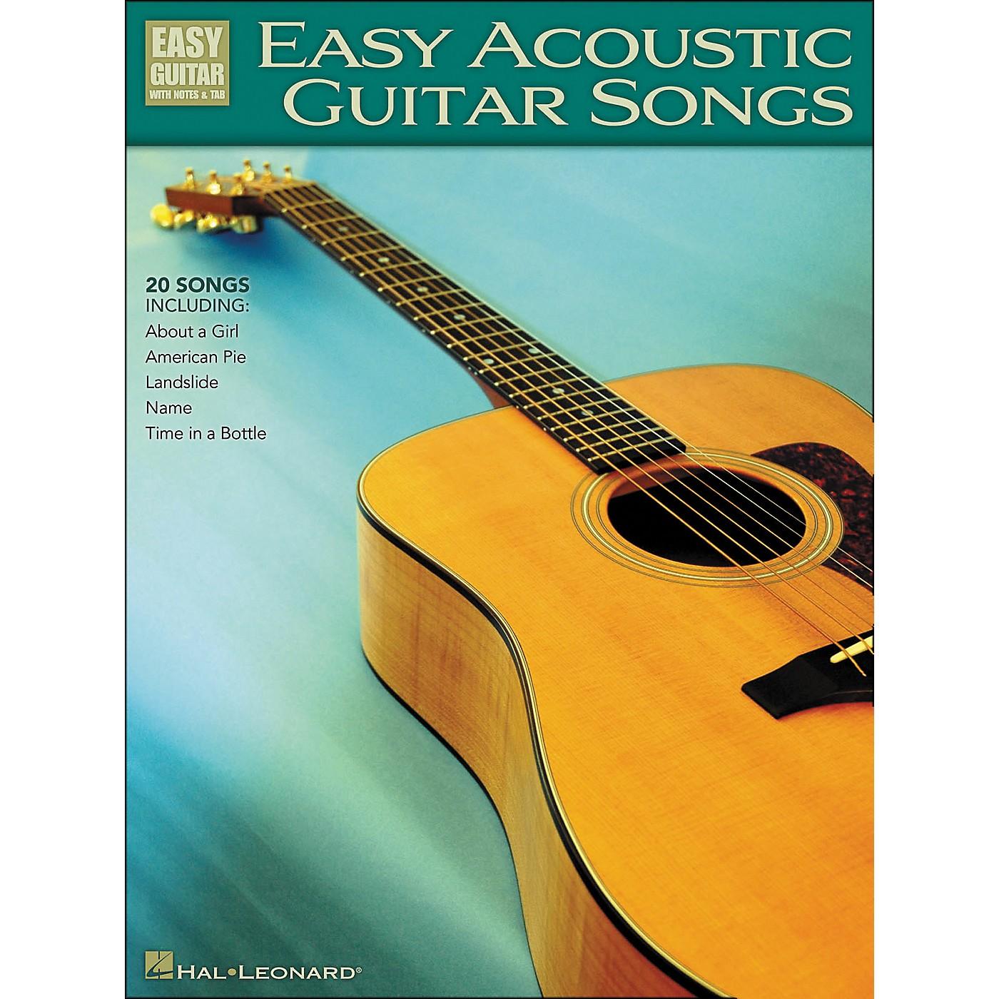 Hal Leonard Easy Acoustic Guitar Songs Easy Guitar Tab thumbnail