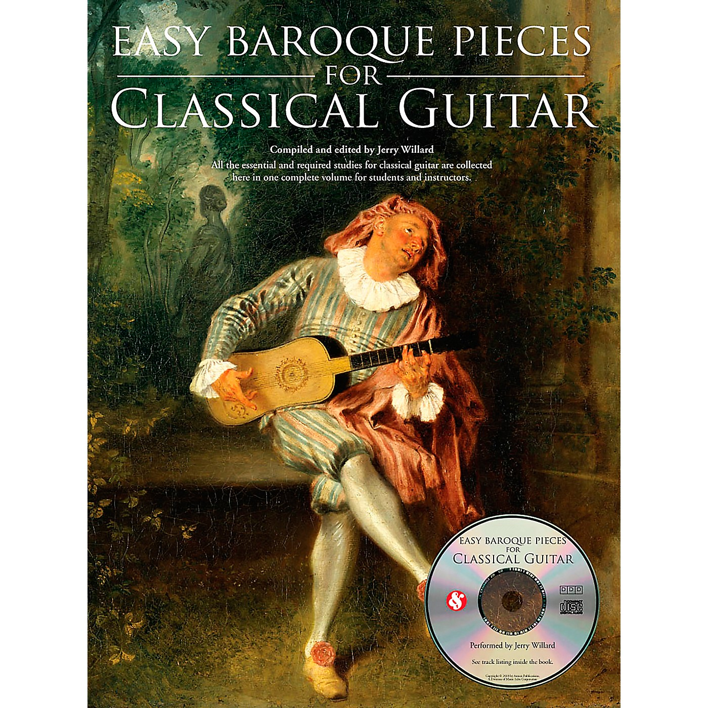 Music Sales Easy Baroque Pieces for Classical Guitar Music Sales America Series Softcover with CD thumbnail