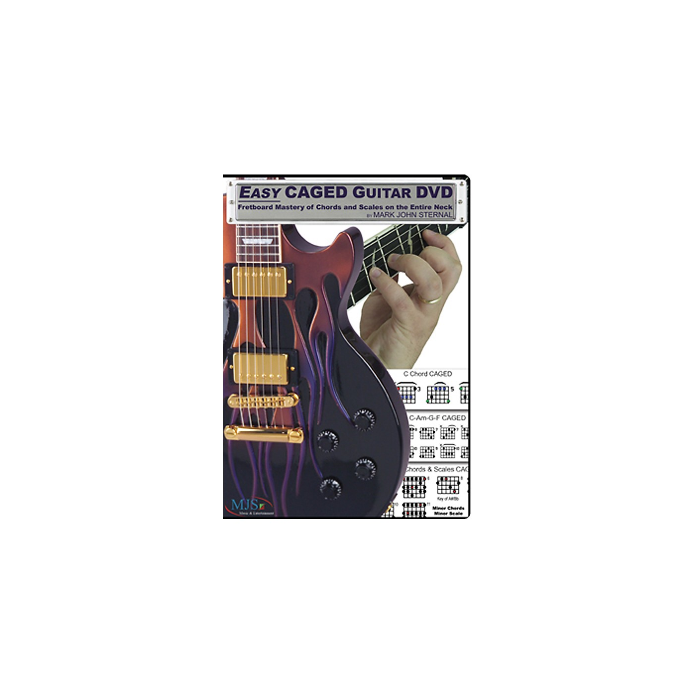 MJS Music Publications Easy CAGED Guitar DVD: Fretboard Mastery of Chords and Scales on the Entire Neck thumbnail