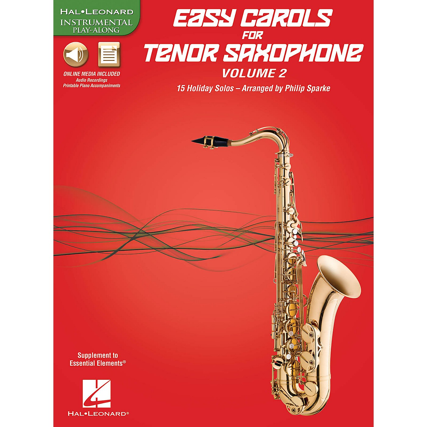 Hal Leonard Easy Carols For Tenor Saxophone, Vol. 2 Instrumental Folio Series Book Media Online thumbnail