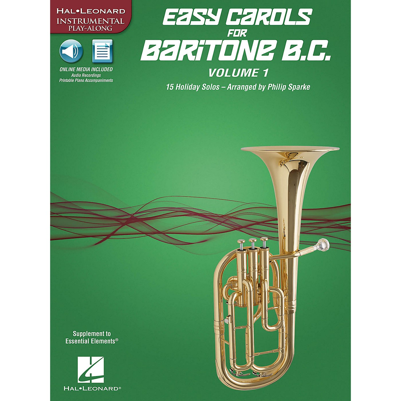 Hal Leonard Easy Carols for Baritone B.C. - Vol. 1 Instrumental Folio Series Softcover Media Online thumbnail