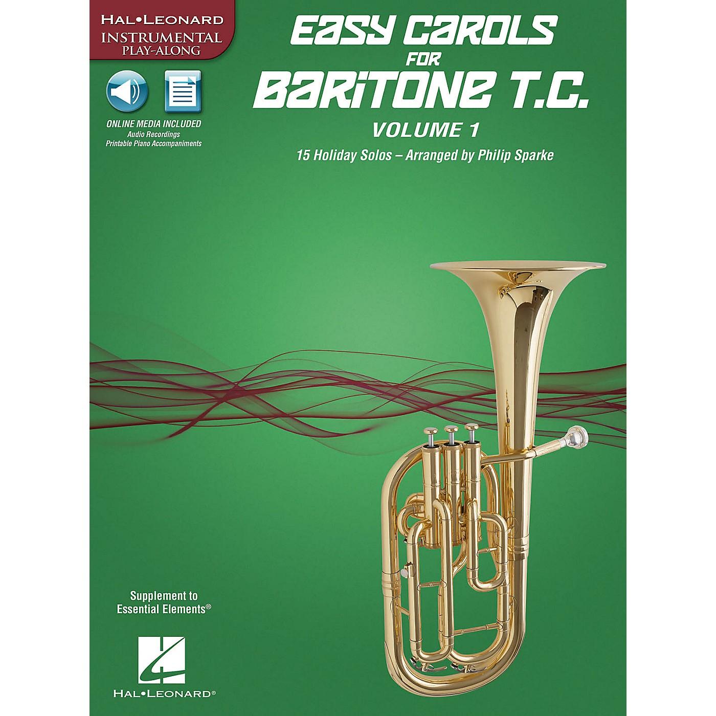 Hal Leonard Easy Carols for Baritone T.C. - Vol. 1 Instrumental Folio Series Softcover Media Online thumbnail