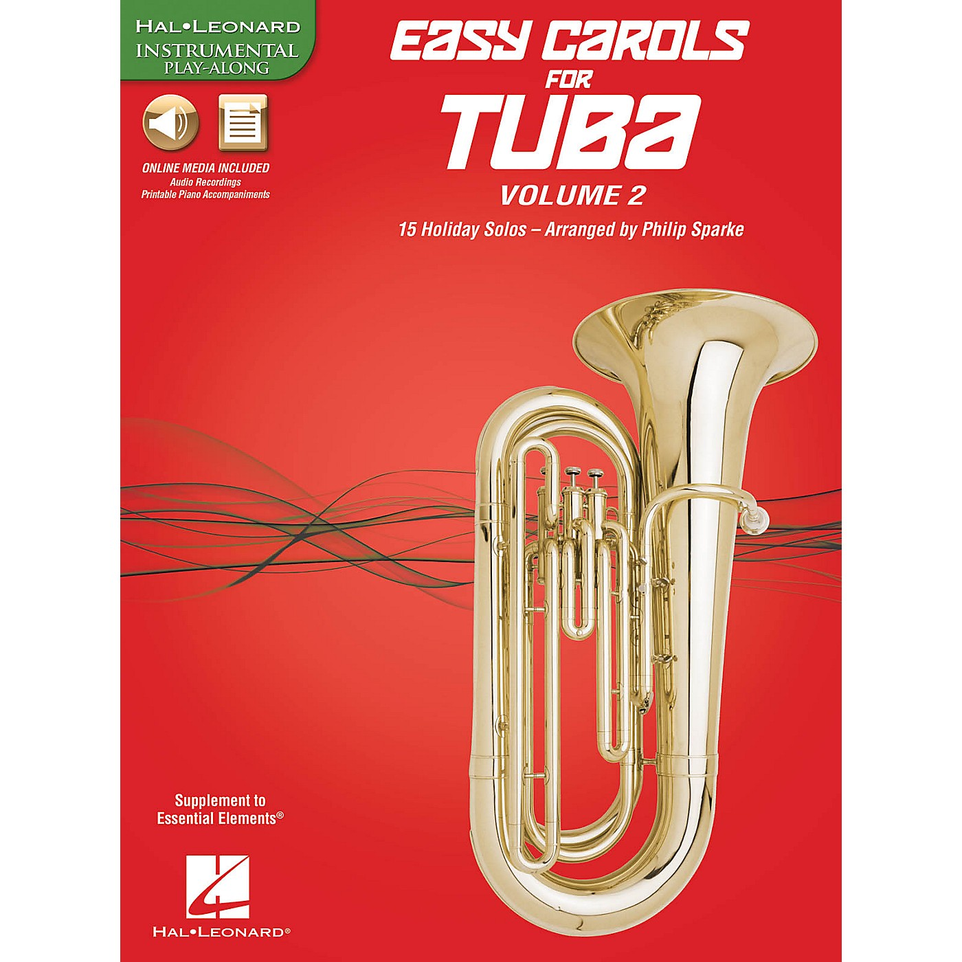 Hal Leonard Easy Carols for Tuba, Vol. 2 (15 Holiday Solos) Instrumental Folio Series Softcover Media Online thumbnail