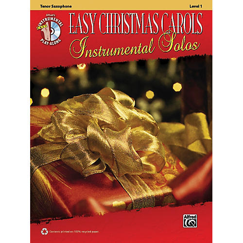 Alfred Easy Christmas Carols Instrumental Solos Tenor Sax Book & CD thumbnail