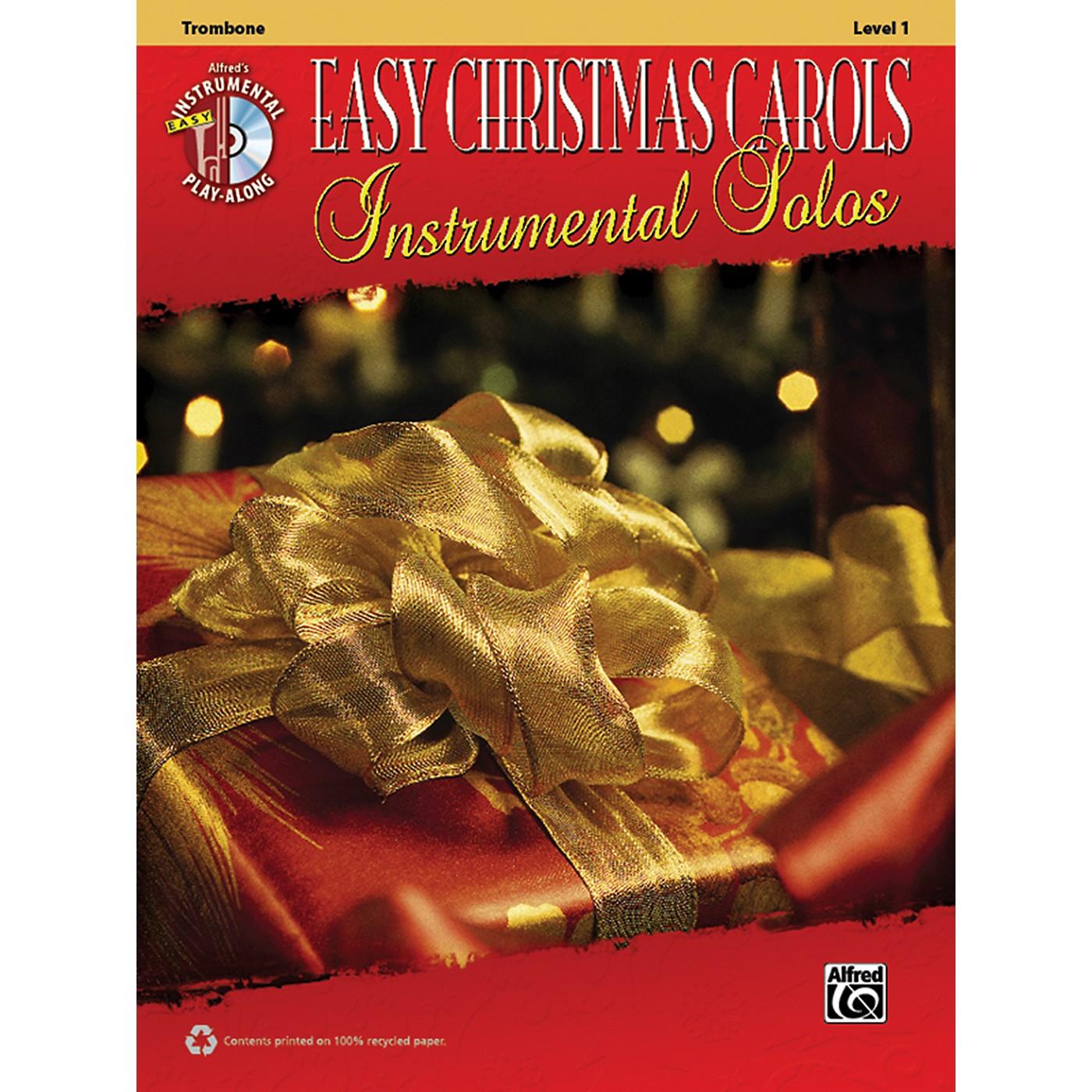 Alfred Easy Christmas Carols Instrumental Solos Trombone Book & CD thumbnail
