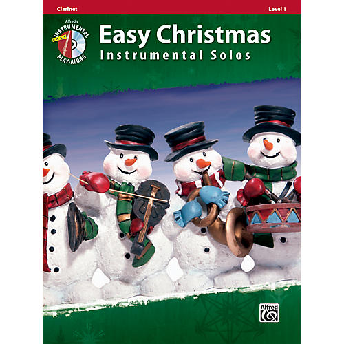 Alfred Easy Christmas Instrumental Solos Level 1 Clarinet Book & CD thumbnail