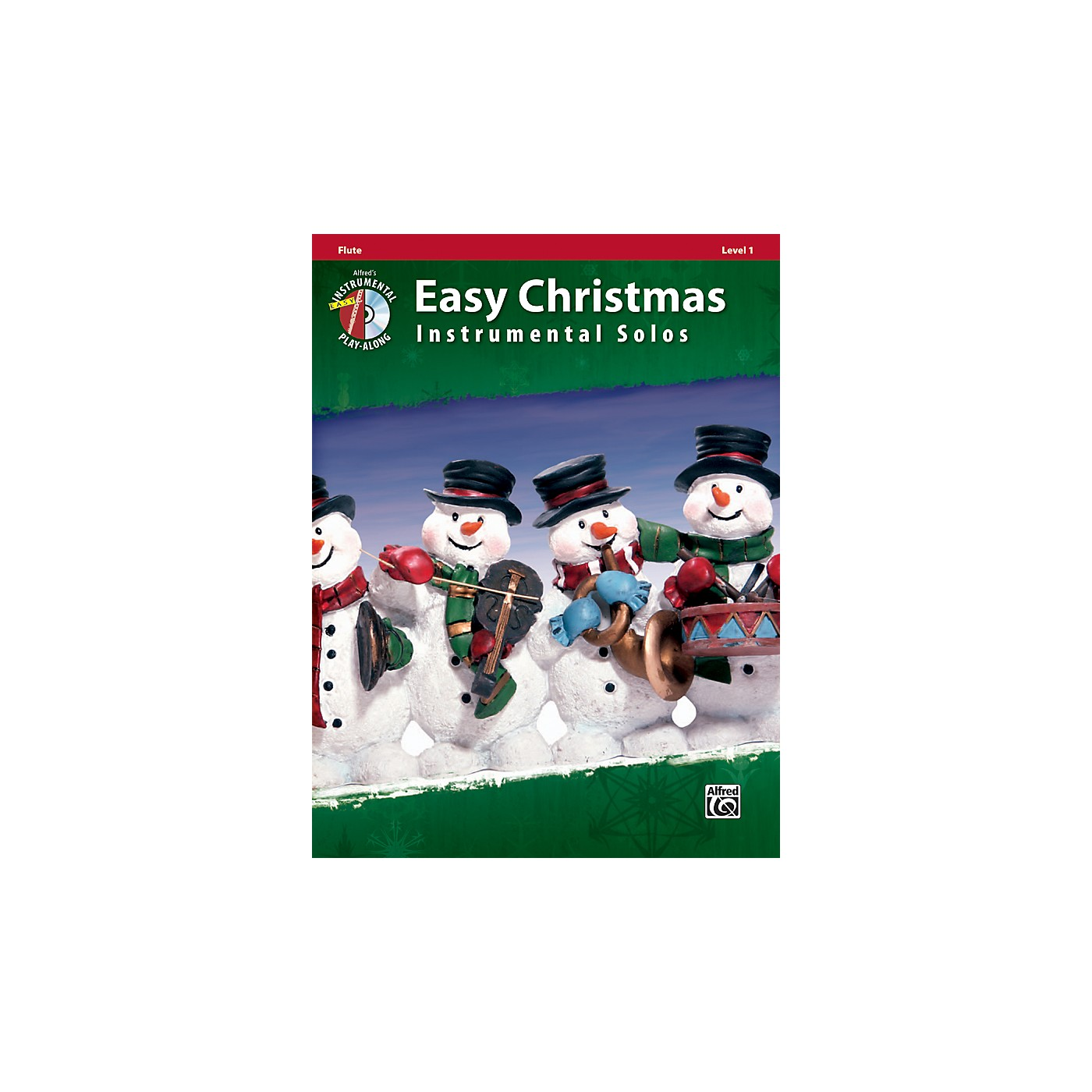 Alfred Easy Christmas Instrumental Solos Level 1 Flute Book & CD thumbnail