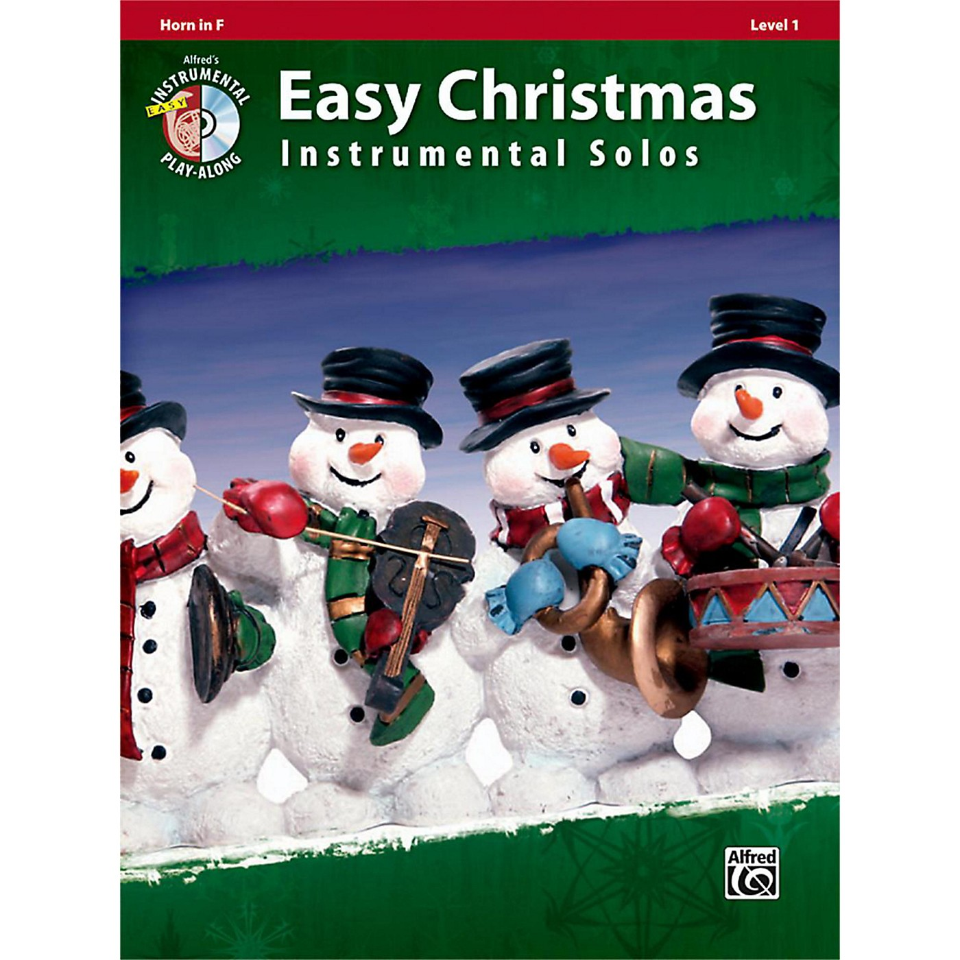 Alfred Easy Christmas Instrumental Solos Level 1 Horn in F Book & CD thumbnail