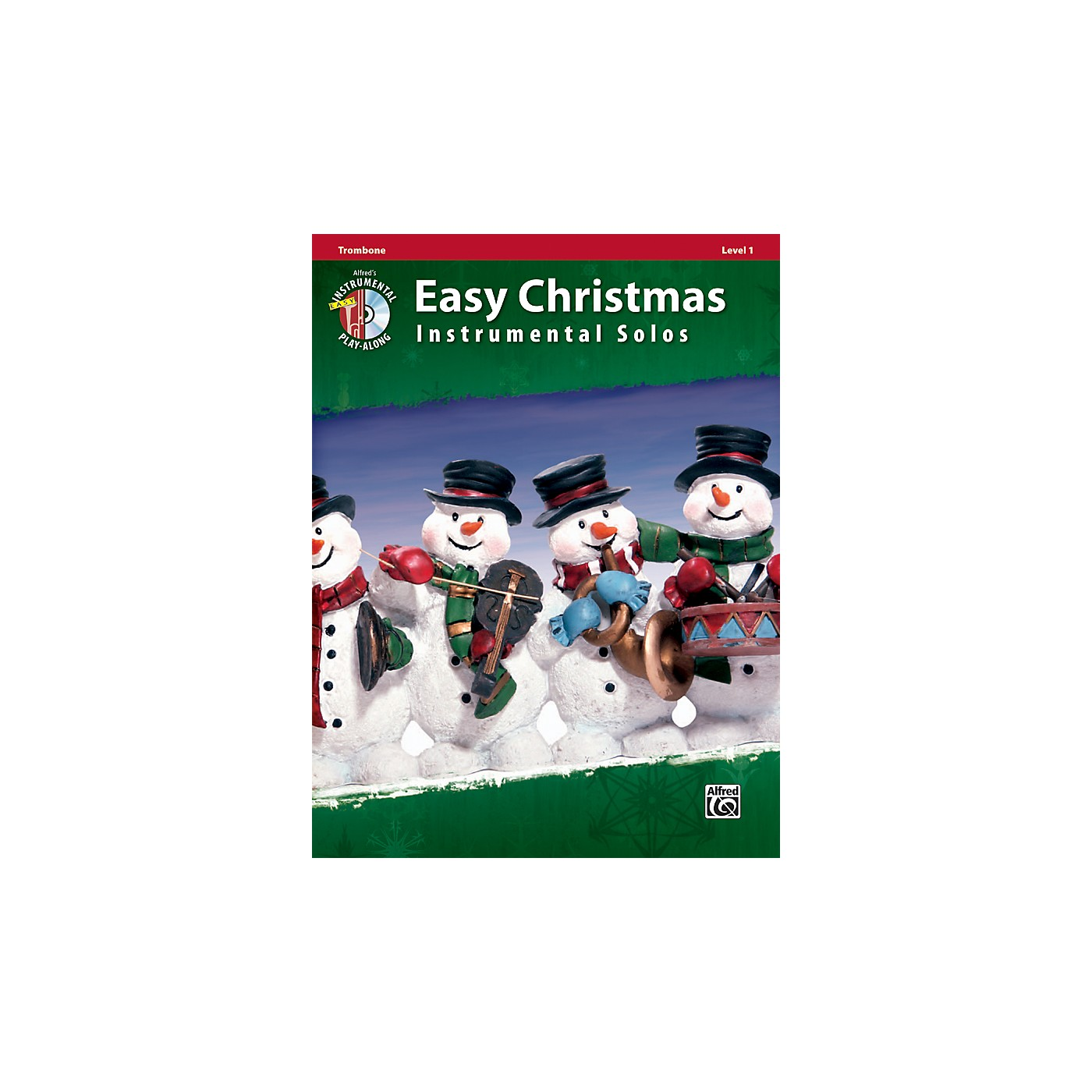 Alfred Easy Christmas Instrumental Solos Level 1 Trombone Book & CD thumbnail