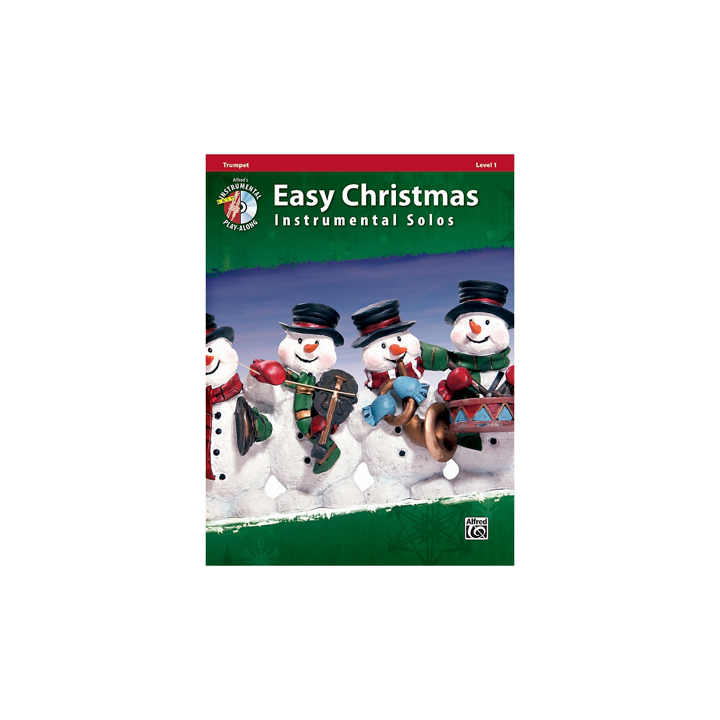 Alfred Easy Christmas Instrumental Solos Level 1 Trumpet Book & CD thumbnail