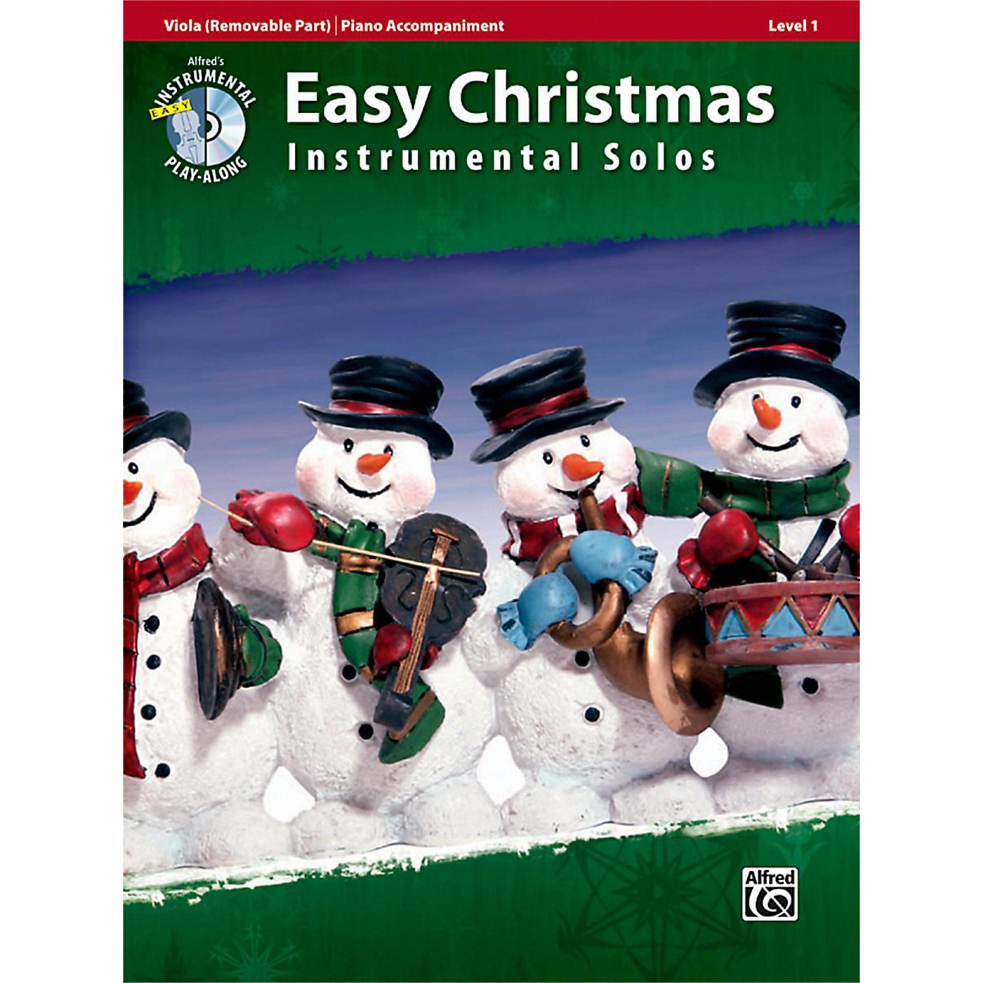 Alfred Easy Christmas Instrumental Solos Level 1 for Strings Viola Book & CD thumbnail