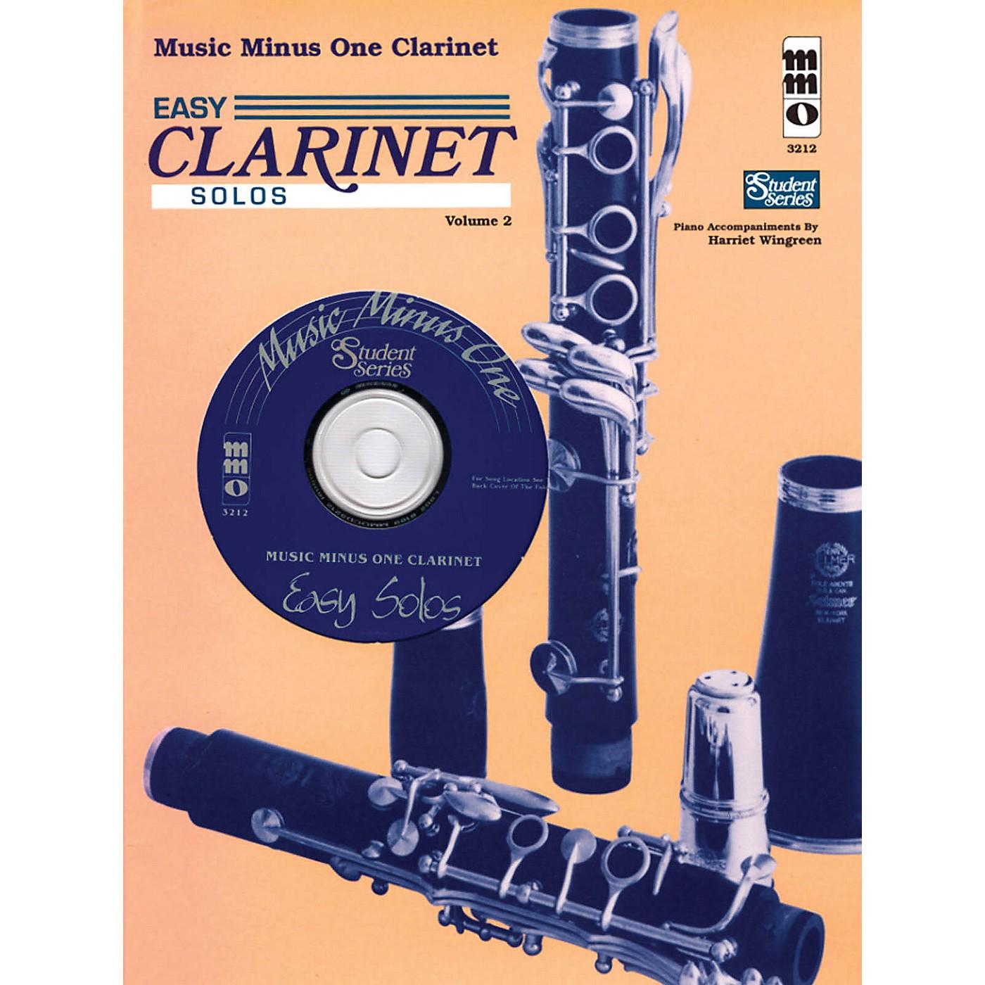 Music Minus One Easy Clarinet Solos, Vol. II - Student Level Music Minus One Series BK/CD thumbnail