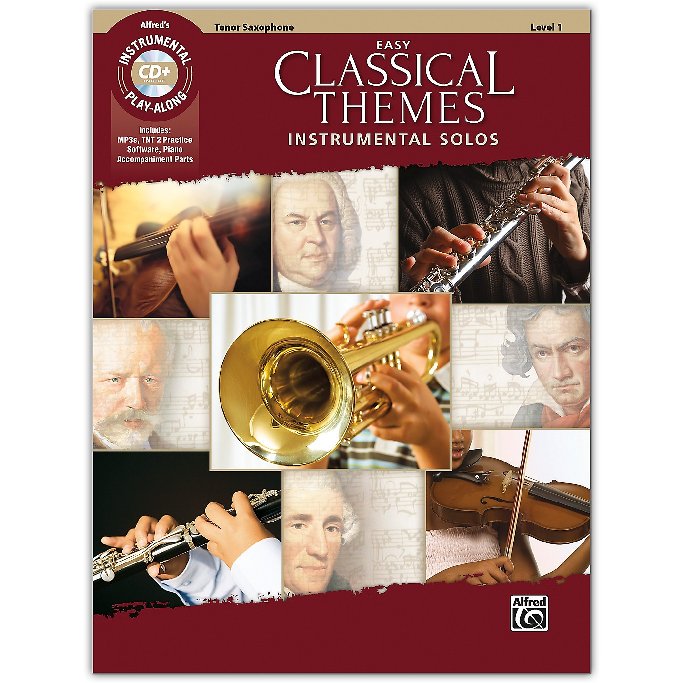 Alfred Easy Classical Themes Instrumental Solos Tenor Sax Book & CD Level 1 thumbnail