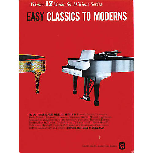 Music Sales Easy Classics To Moderns 142 Piano Pieces thumbnail