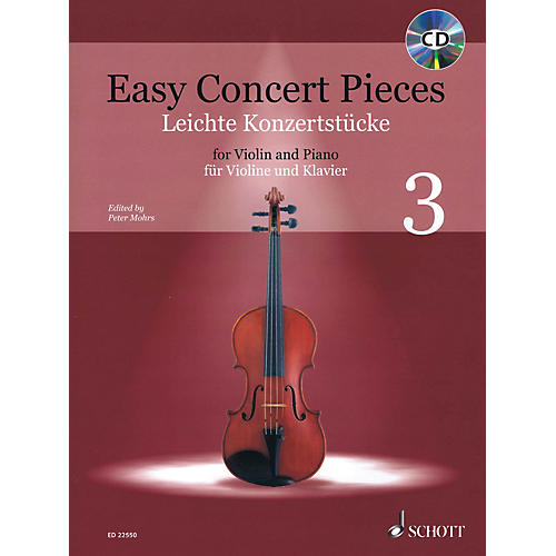Schott Easy Concert Pieces - Volume 3 (16 Famous Pieces from 4 Centuries)  Violin and Piano Book/CD thumbnail