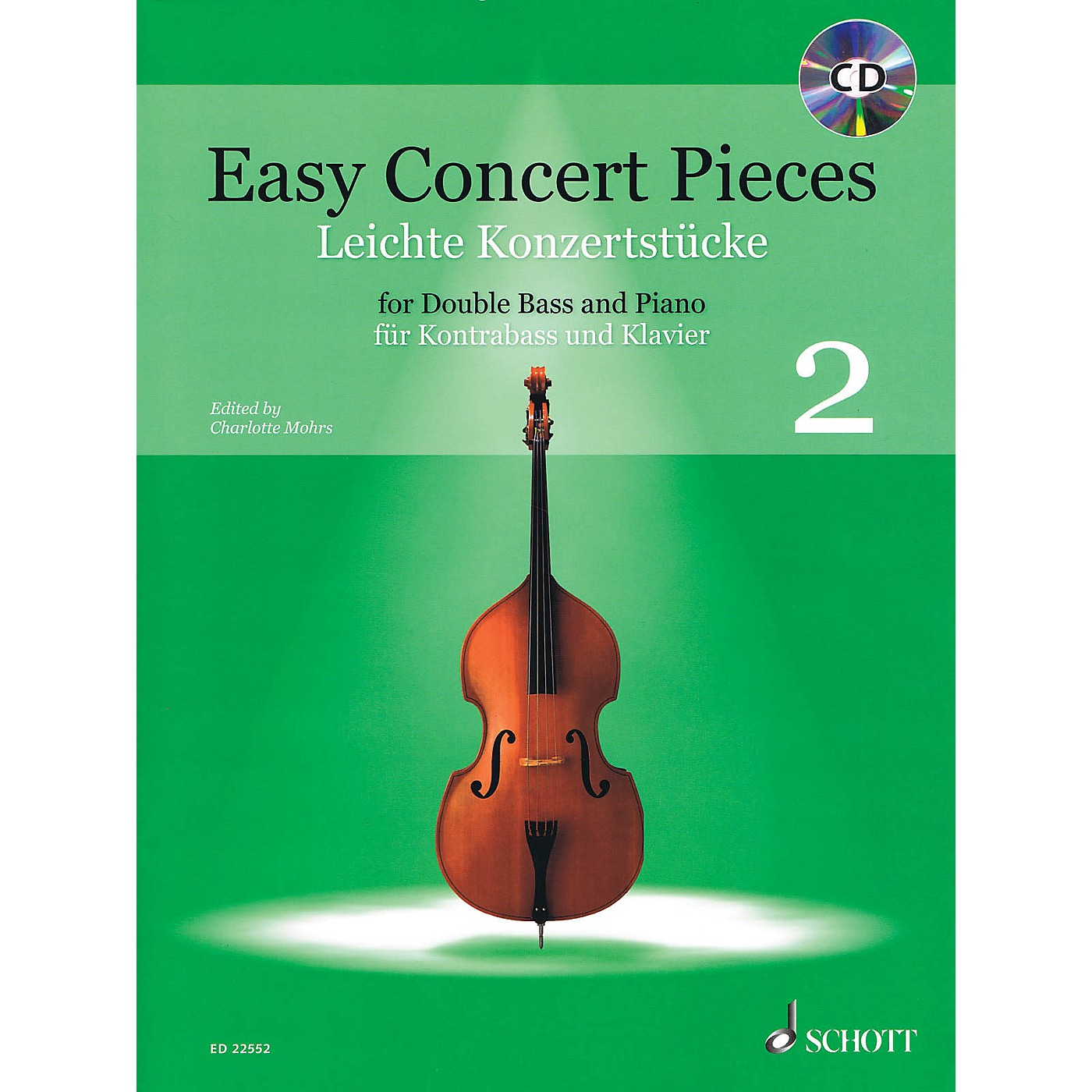 Schott Easy Concert Pieces, Book 2 (24 Easy Pieces from 5 Centuries using Half to 3rd Position) Book/CD thumbnail