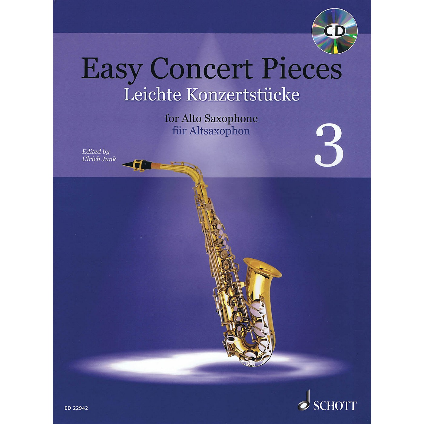 Schott Easy Concert Pieces Book 3 (17 Pieces from 6 Centuries) Alto Saxophone and Piano Book/CD thumbnail