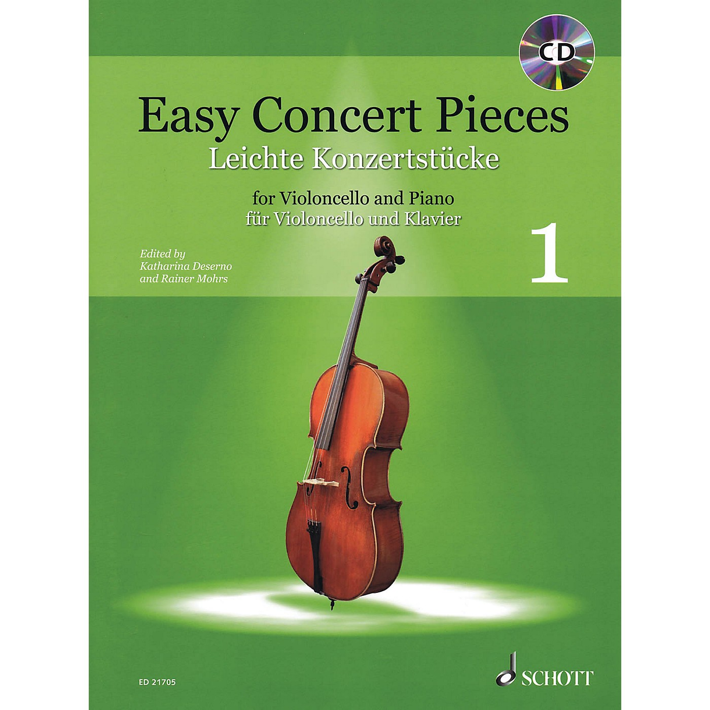 Schott Easy Concert Pieces Volume 1 (Cello and Piano) String Series Softcover with CD thumbnail