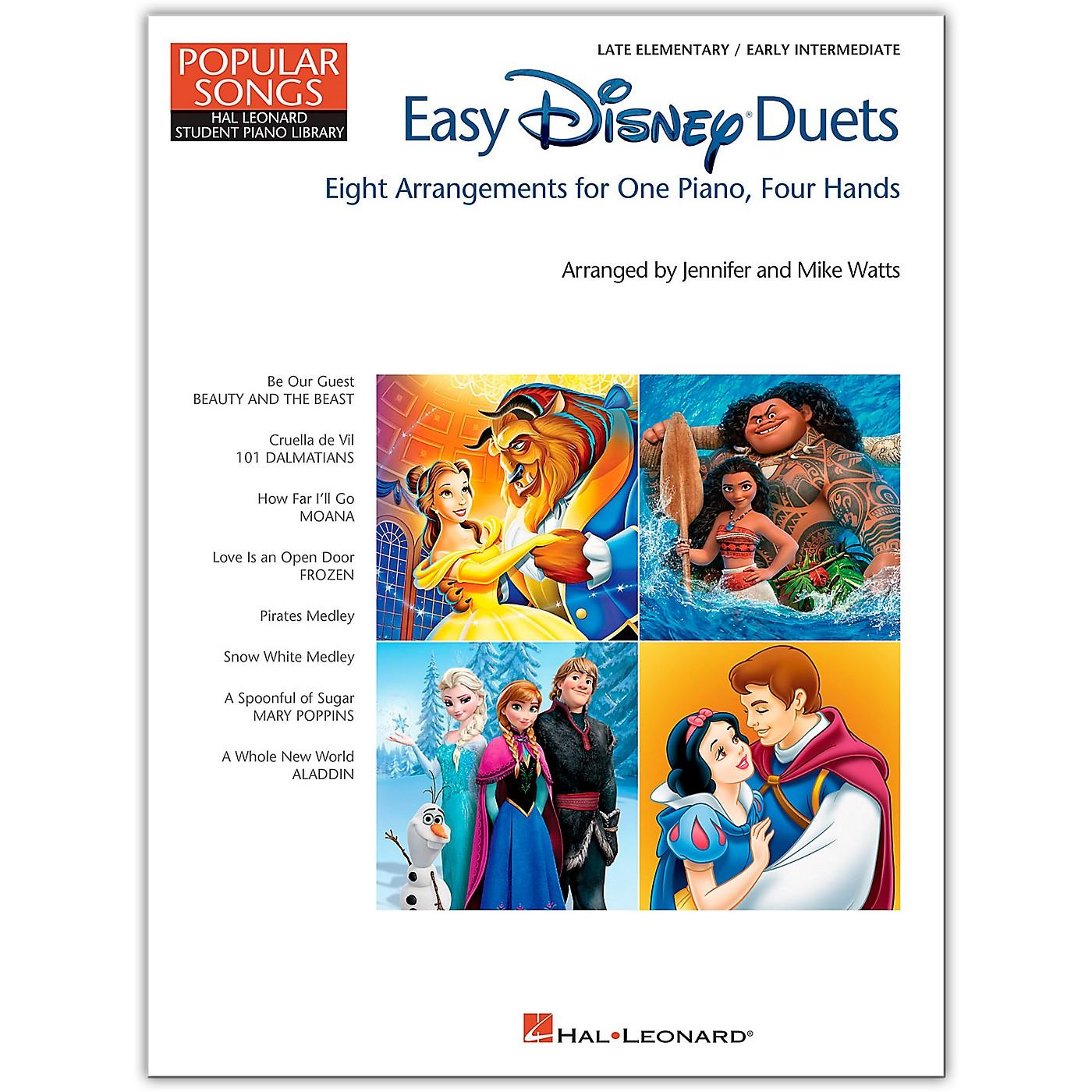 Hal Leonard Easy Disney Duets - Popular Songs Series Late Elementary/Early Intermediate Level thumbnail