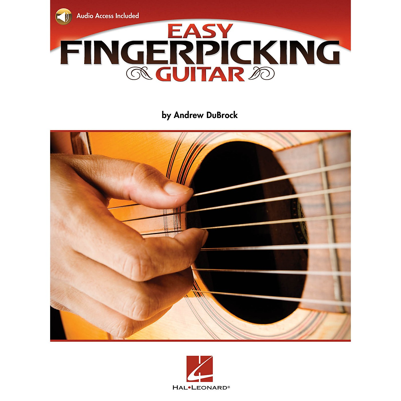 Hal Leonard Easy Fingerpicking Guitar Guitar Educational Series Softcover Audio Online Written by Andrew DuBrock thumbnail