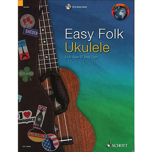 Schott Easy Folk Ukulele (29 Traditional Pieces) String Series Softcover with CD thumbnail
