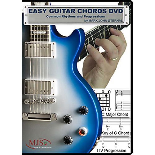 MJS Music Publications Easy Guitar Chords DVD Common Rhythms and Progressions thumbnail