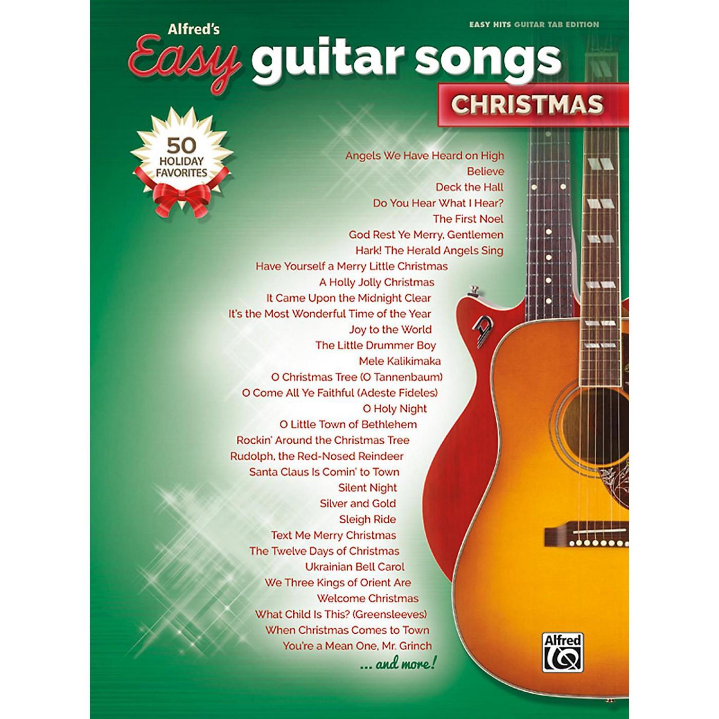 Alfred Easy Guitar Songs: Christmas Easy Hits Guitar TAB Songbook thumbnail