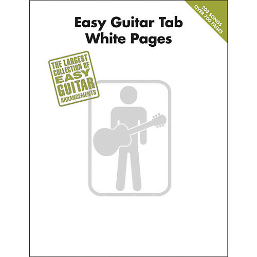 Hal Leonard Easy Guitar Tab White Pages Songbook thumbnail