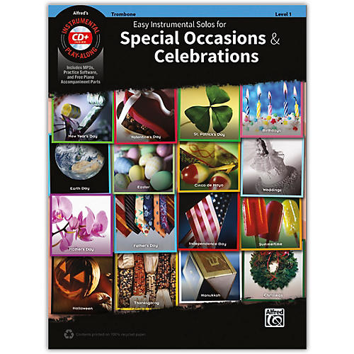 Alfred Easy Instrumental Solos for Special Occasions & Celebrations Trombone Book and MP3 CD thumbnail