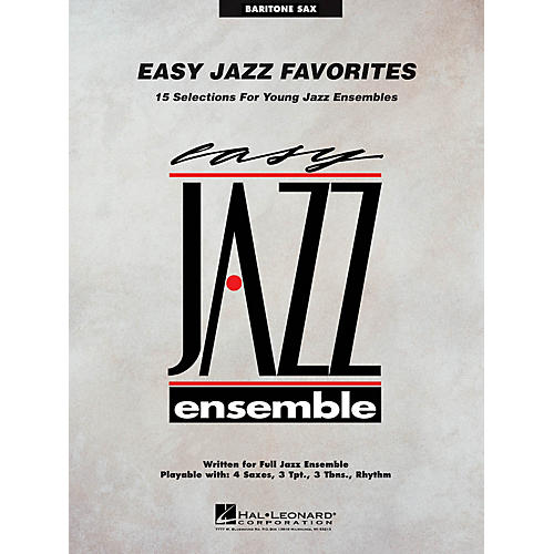 Hal Leonard Easy Jazz Favorites - Baritone Sax Jazz Band Level 2 Composed by Various thumbnail