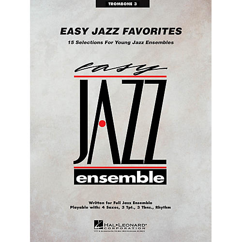 Hal Leonard Easy Jazz Favorites - Trombone 3 Jazz Band Level 2 Composed by Various thumbnail