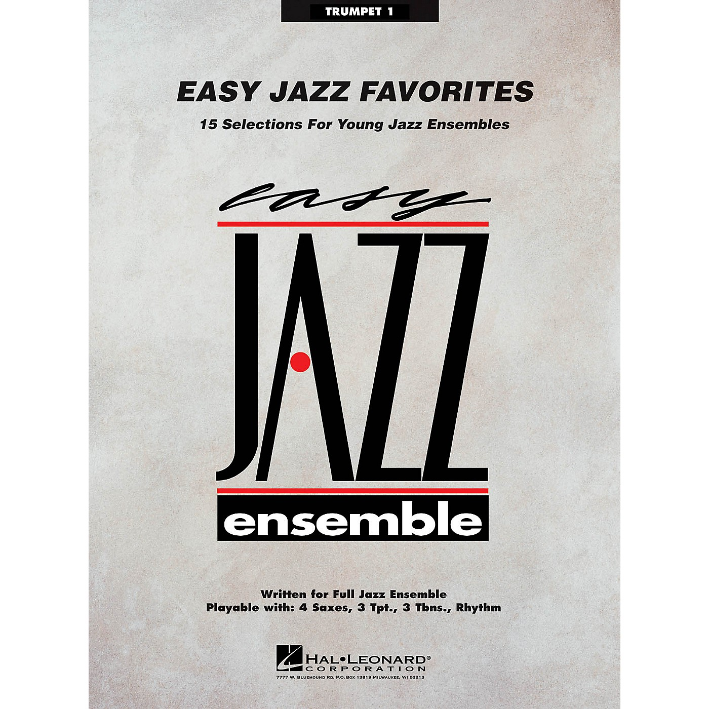 Hal Leonard Easy Jazz Favorites - Trumpet 1 Jazz Band Level 2 Composed by Various thumbnail